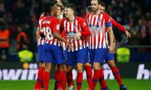 Atletico Madrid dalam laga La Liga Spanyol
