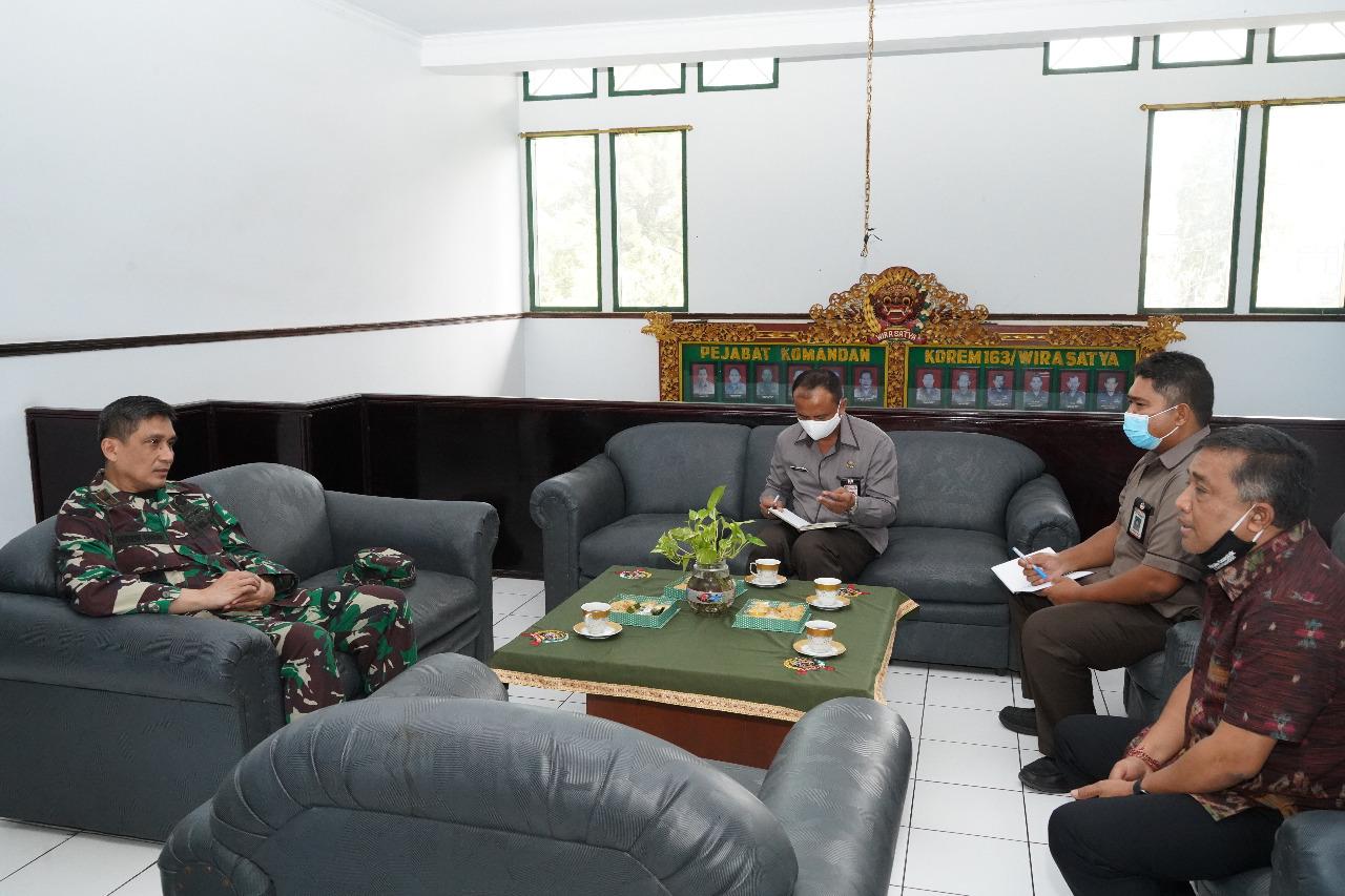 KPU Provinsi Bali audiens dengan Danrem 163/Wira Satya, Rabu (15/07/2020). Foto: Lintasnusanews.com/Widodo