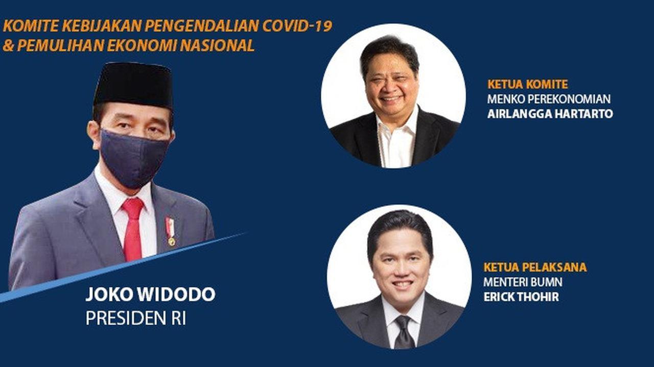 Banner Infografis Struktur Komite Penanganan Covid-19 dan Pemulihan Ekonomi Nasional. Foto: Liputan6.com/Trieyasni