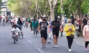 (Car Free Day Denpasar) Pemkot Denpasar tunda buka CFD setelah simulasi banyak pelanggaran dan kerumunan warga. Foto: Lintasnusanews.com/Dok Pemkot Denpasar