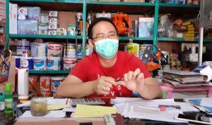 Pemilik PT Rofin Jaya, Elvit Tunggal tegaskan penyaluran minyak tanah di maumere sesuai aturan. Foto: Lintasnusanews.com/Karel