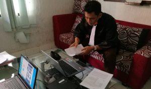 Jaksa Andhika saat sidang vonis kurir narkoba, Bambang Sunggoro di PN Denpasar, Kamis (30/07/2020). Foto: Lintasnusanews.com/Widodo