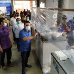 Sekda Kota Denpasar, AAN Rai Iswara sidak tiga pasar tradisional jelang new normal 09 Juli mendatang. Foto: Lintasnusanews.com/Istimewa