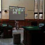Sidang Online kasus Narkoba Sopir di PN Denpasar, Selasa (14/07/2020). Foto: Lintasnusanews.com/Wdidodo