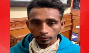 Buruh proyek asal Sumba Timur NTT bernama Oki Mila alias Yanus (32) yang tega bunuh pacarnya Elisabet Adji (31) di Dalung, Kuta Utara, Bali. Foto: Lintasnusanews.com/Dok.Satreksrim Polres Badung.