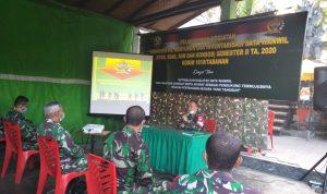 Dandim 1619/Tabanan Letkol Inf Toni Sri Hartanto saat memberikan arahan terkait netralitas TNI dalam PIlkada serentak 2020. Foto: Lintasnusanews.com/Ist