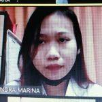Terdakwa kasus narkoba, Mia Chandra Marina yang dimarahi Hakim PN Denpasar. Foto: Lintasnusanews.com/Widodo