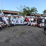 Rombongan Ziarah Wali ke-3 foto bersama club pencin motor di Bali, Minggu (06/09/2020). Foto: Lintasnusanews.com/Widodo