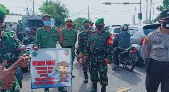 Tim gabungan Satgas Covid19 razia prokes di wilayah Denpasar Timur. Foto: Lintasnusanews.com/Ist