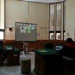 Sidang virtual putusan pengedar sabu dan ekstasi. Foto: Lintasnusanews.com/Agung Widodo