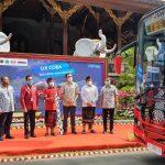 Gubernur Bali luncurkan Shuttle bus listrik untuk kawasan wisata, Jumat (06/11/2020). Foto: Lintasnusanews.com/Ist