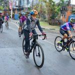 Rombongan Women Cycling Community (WCC) 1.000 KM for Bali Pulih tiba di Griya Seba Sari Denpasar, Sabtu (14/11/2020).