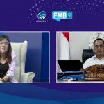 Menteri Perhubungan Budi Karya Sumadi menjelaskan kehadiran Pelabuhan Internasional Patimban, saat menjadi narsum FMB9, Selasa (29/12/2020). Foto: Lintasnusanews.com/Ist