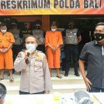 Pelaku jambret ditangkap Polda Bali. Foto: Lintasnusanews.com/Ist