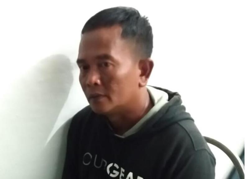 Intel TNI Gadungan yang mendekam di penjara karena mengaku perwira TNI. Foto: Lintasnusanews.com/Afgung Widodo
