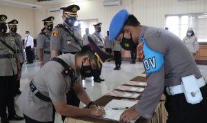 Kapolresta Denpasar, Kombes Pol. Jansen Avitus Panjaitan pimpin sertijab di Mapolresta. Foto: Lintasnusanews.com/Agung Widodo