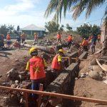 Proses pembangunan program Kotaku di wilayah Kecamatan Alok, Maumere NTT. Foto: LIntasnusanews.com/Karel Pandu