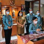 TP PKK Kota Denpasar saat mengiktu rakor persiapan pelaksanaan vaksin bagi penyandang disabilitas di Bali. Foto: Ist