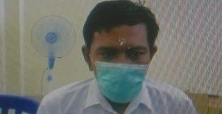 Putu Yudiantara, pengedar sabu saat jalani sidamng vonis secara virtual oleh majelis hakim PN Denpasar. Foto: Ist